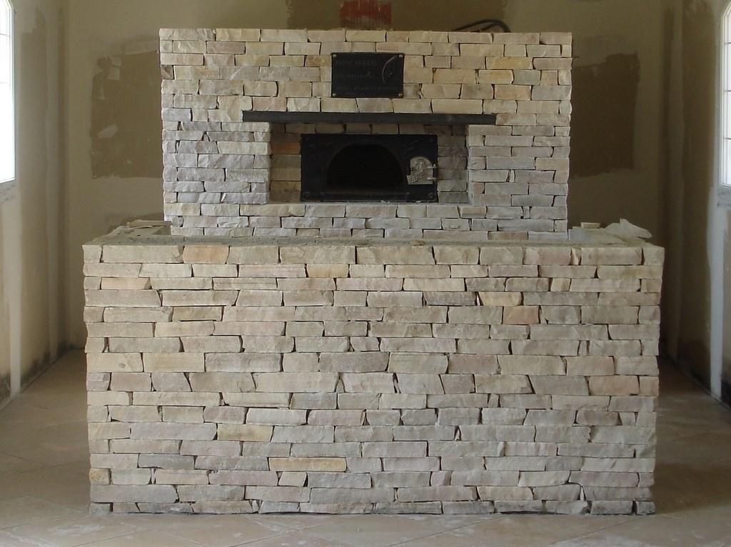four bois pizza traditionnels en brique - Four A Pizza Interieur